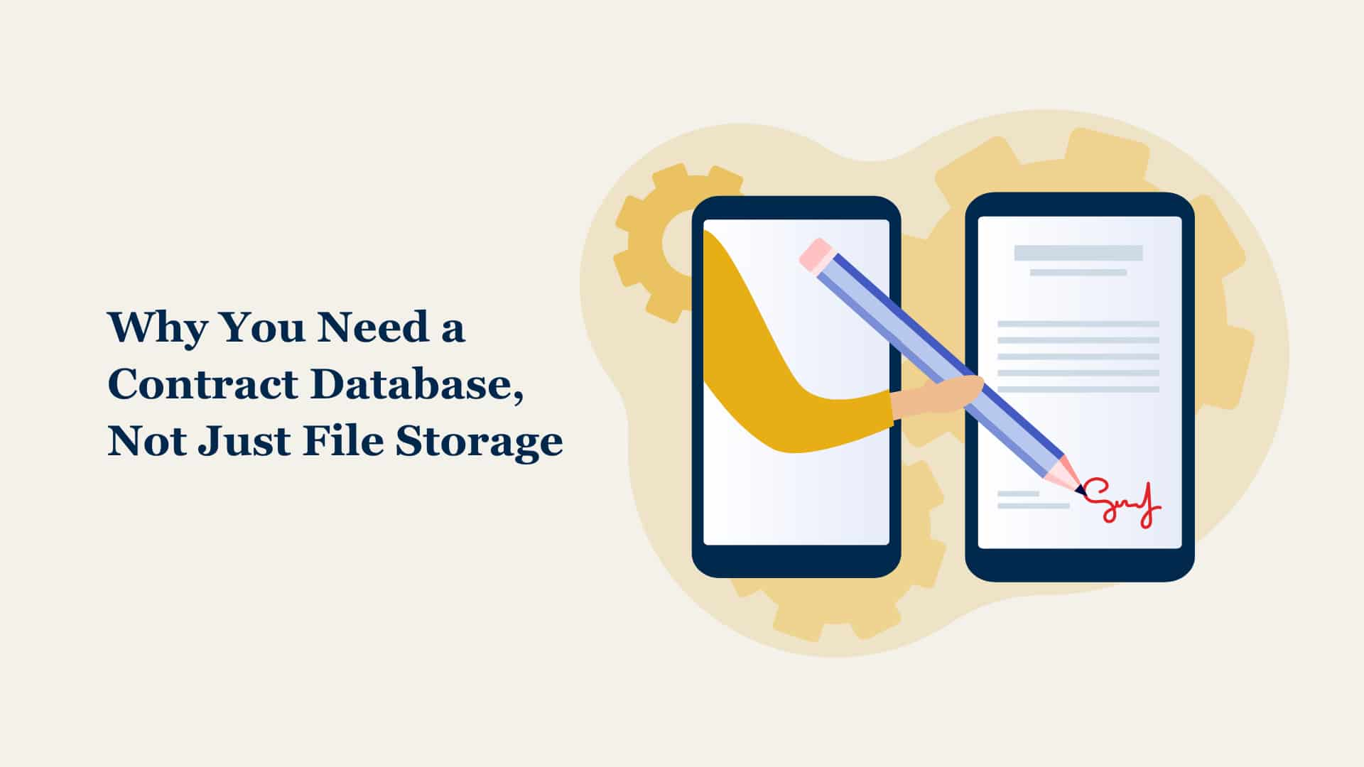 Why you need a contract database