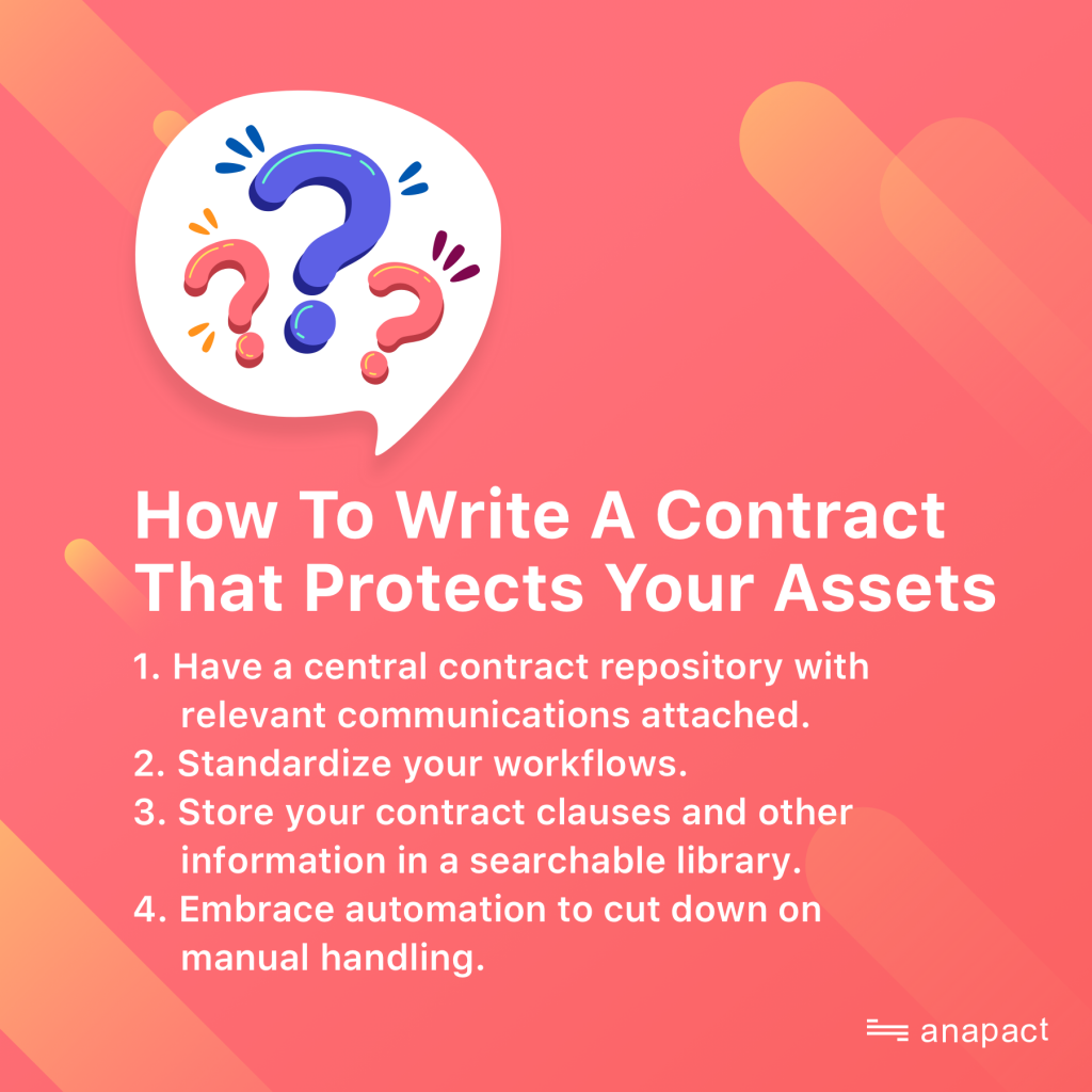 How to write a contract that protects your assets