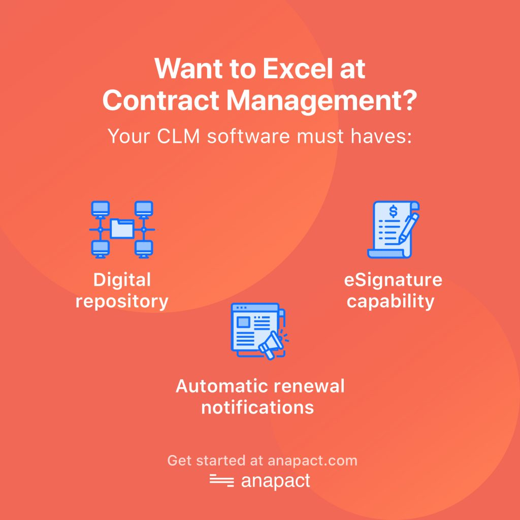 3 must haves for your CLM software to excel at contract management