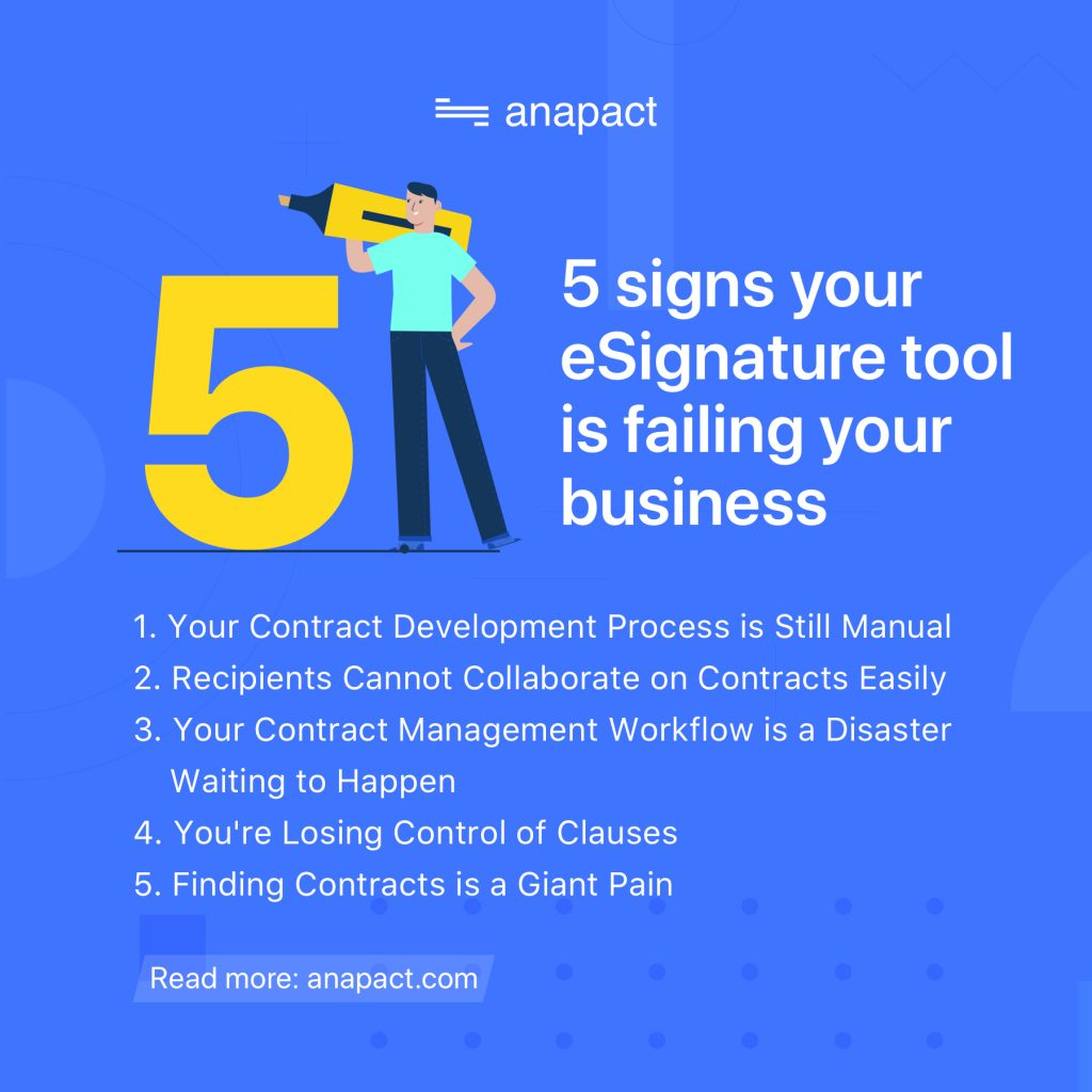 5 signs your eSignature tool is failing your business
